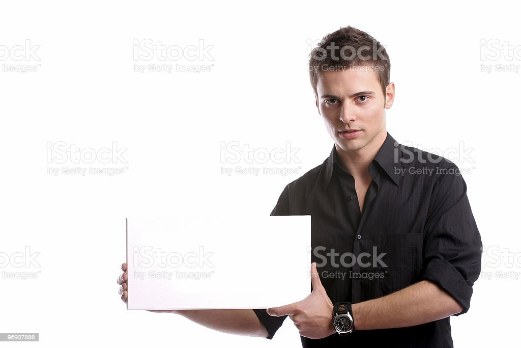 business man with an empty white card royalty-free stock photo