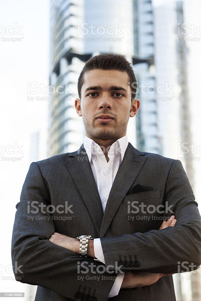 Business man with arms crossed royalty-free stock photo