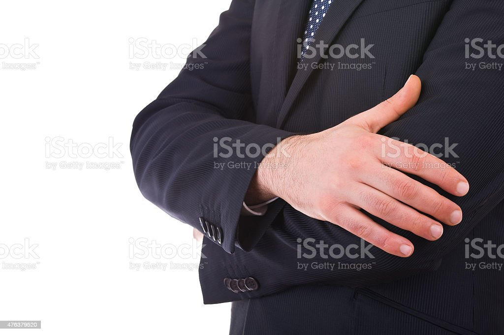 Business man with arms crossed. stock photo
