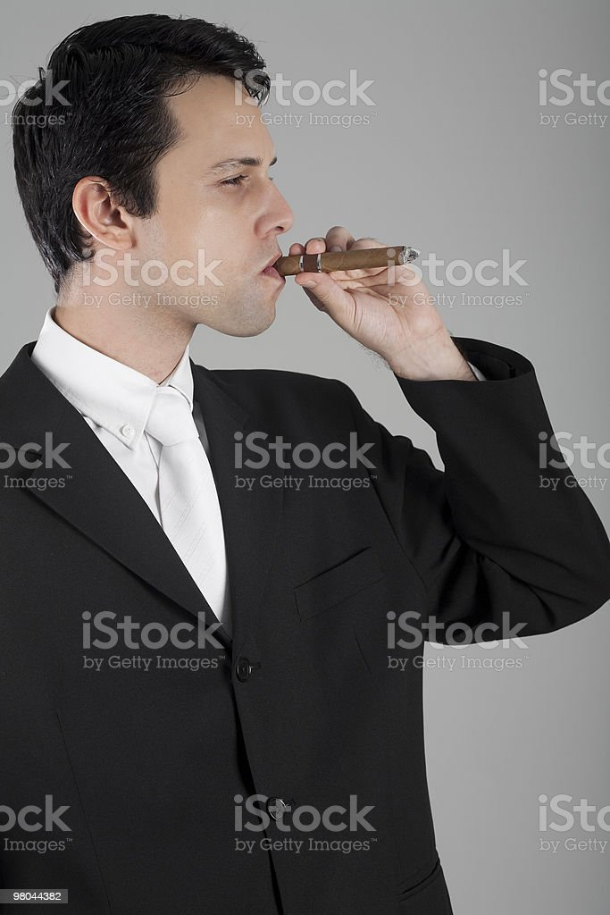 Business Man with Cigar stock photo