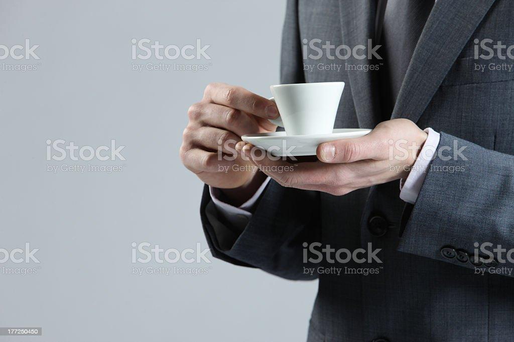 Homme d'affaires avec une tasse de café photo libre de droits