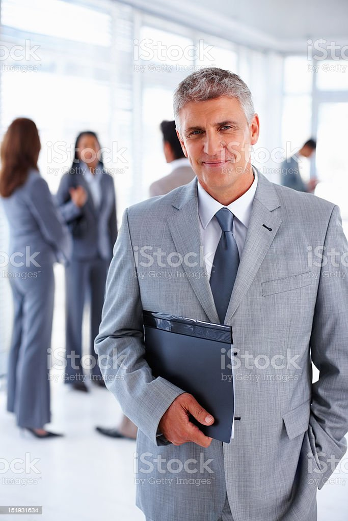 Business man with folder royalty-free stock photo