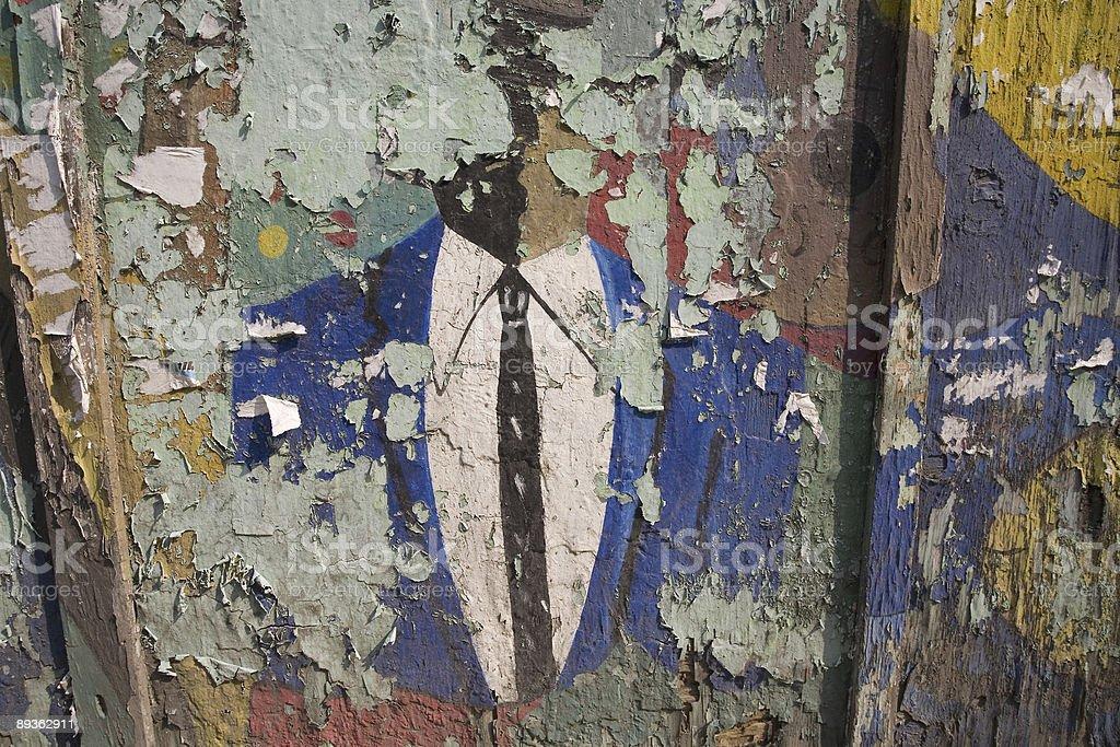 Business Man with Graffiti Wall royalty-free stock photo