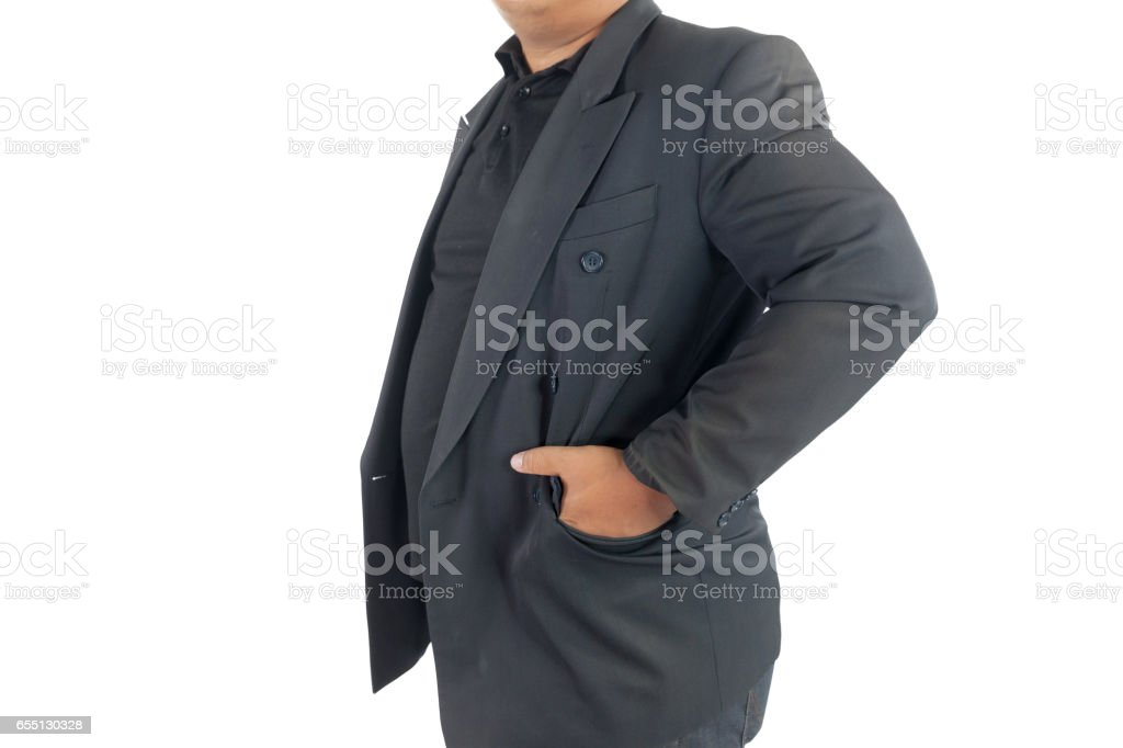 business man with hand in pocket stock photo
