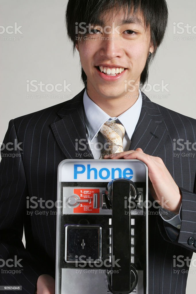 Business man with his phone royalty-free stock photo