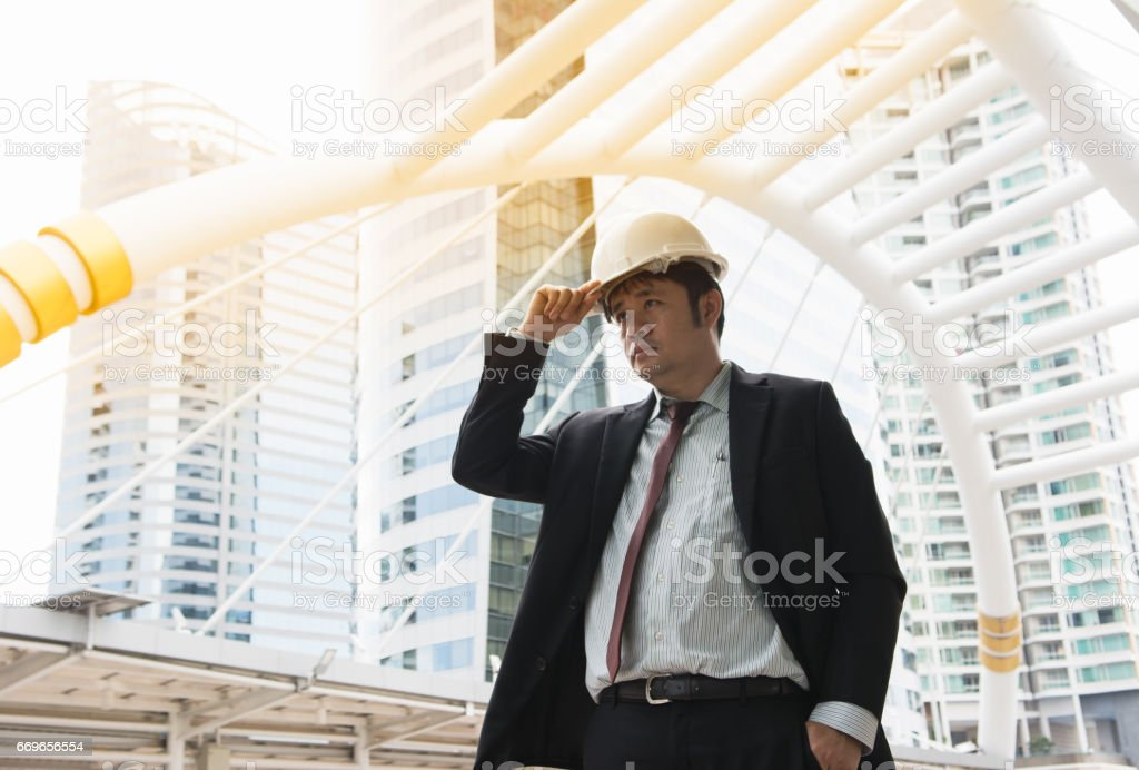 Business man with intend to work stock photo
