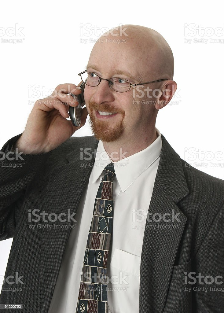 Business Man with Mobile royalty-free stock photo