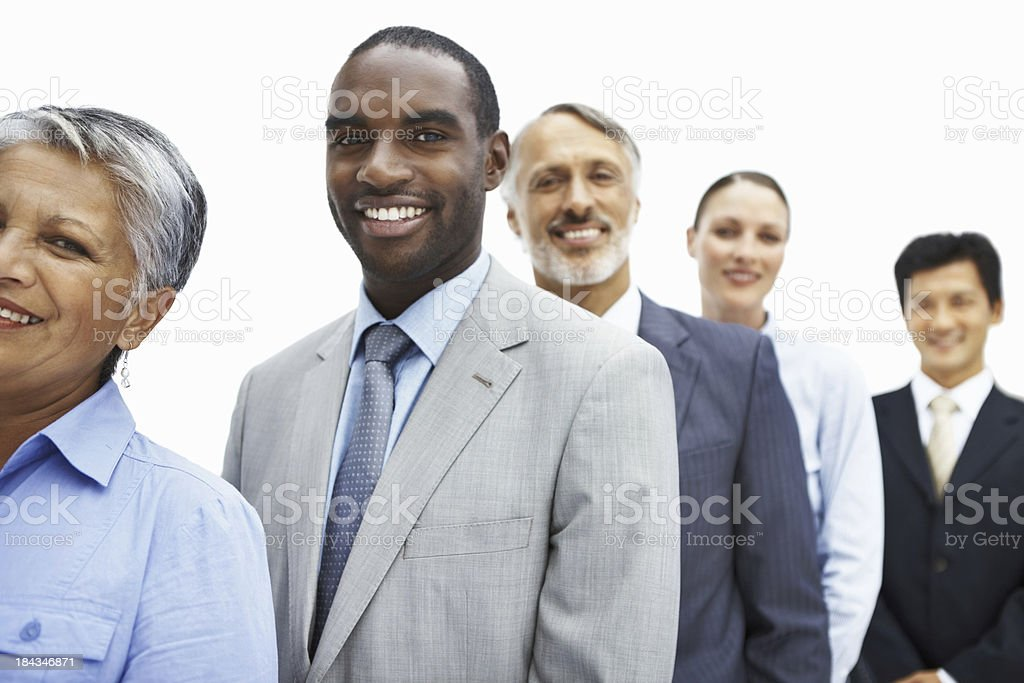 Business man with multi racial executives royalty-free stock photo