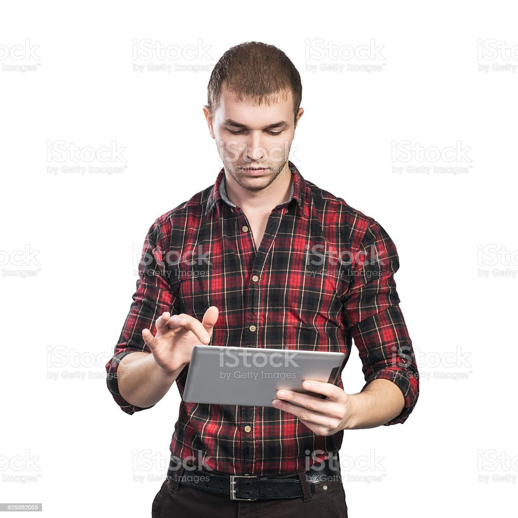 business man with pad stock photo