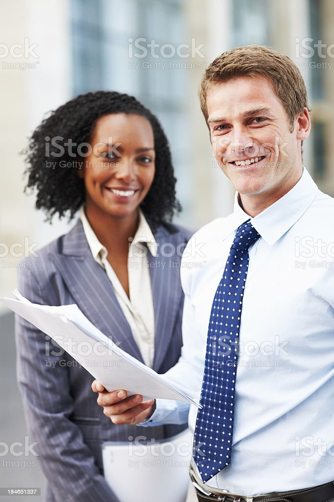 Business man with paperwork royalty-free stock photo