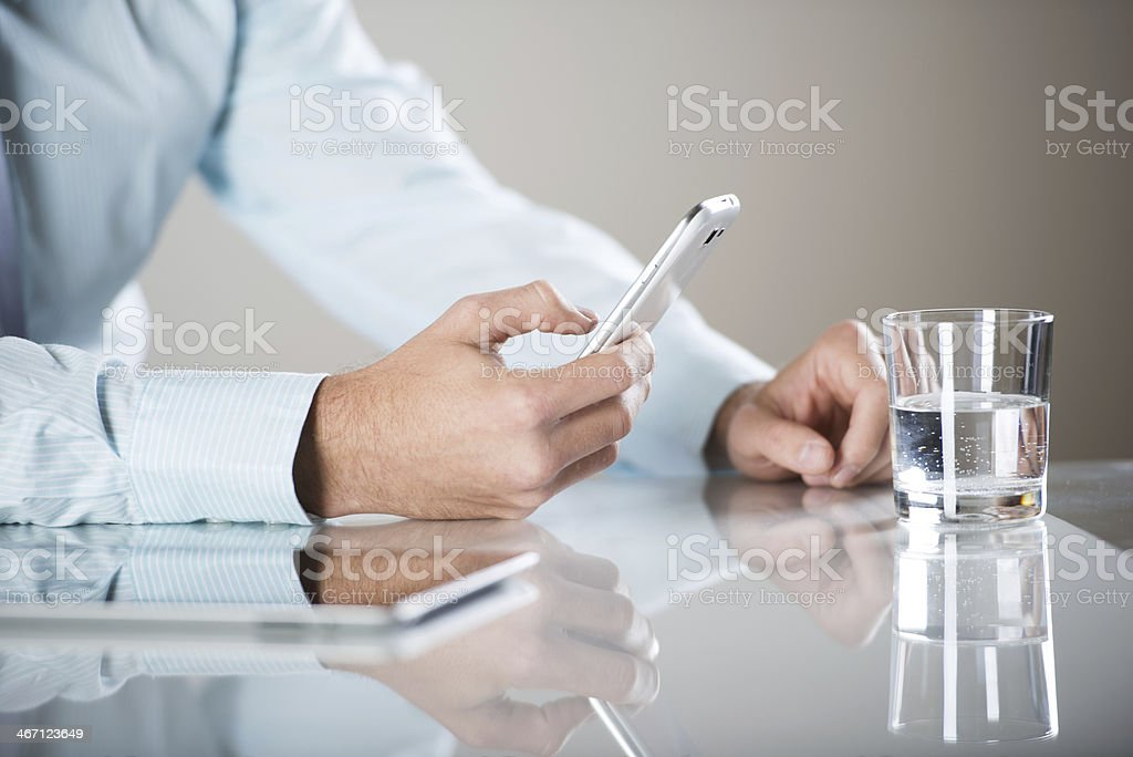 business man with pc royalty-free stock photo