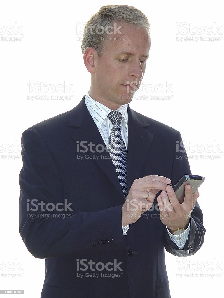 business man with pda royalty-free stock photo