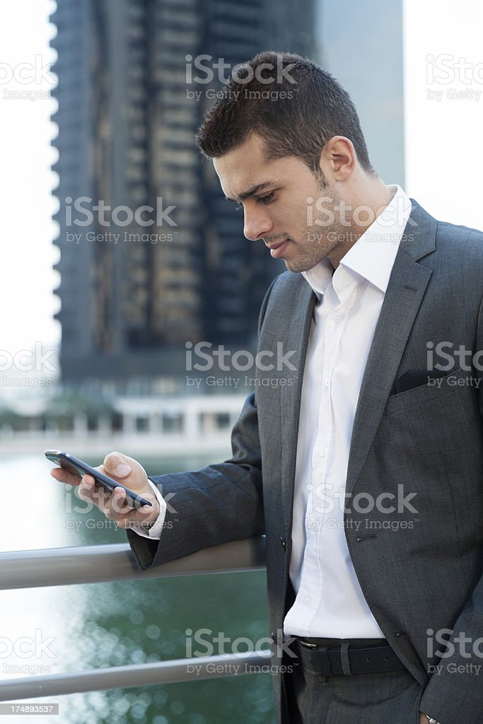 Business man with smart phone royalty-free stock photo