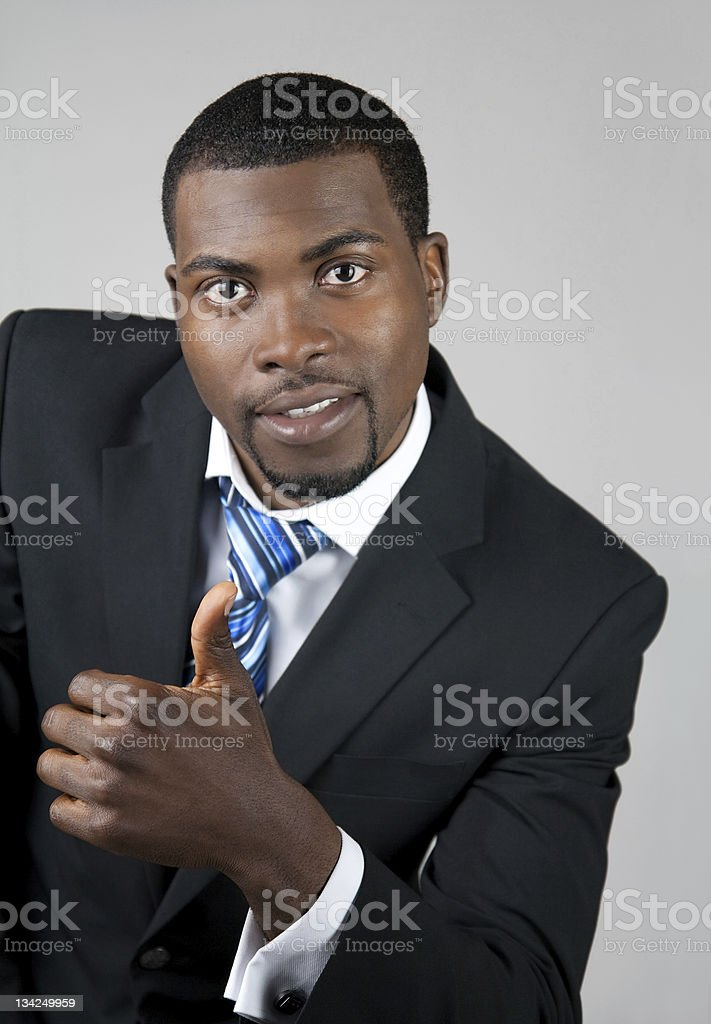Business man with thumb up royalty-free stock photo