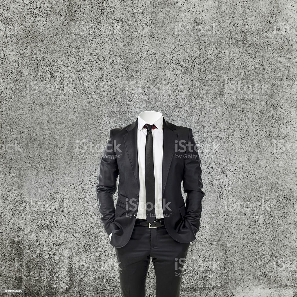 business man without head stock photo
