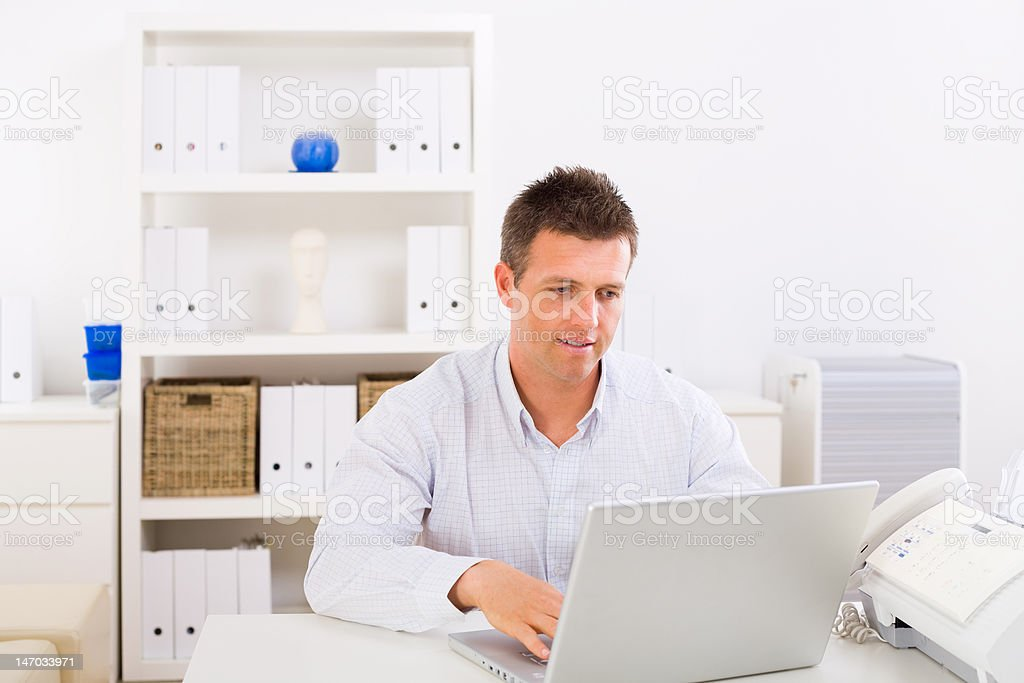 Business man working at home royalty-free stock photo