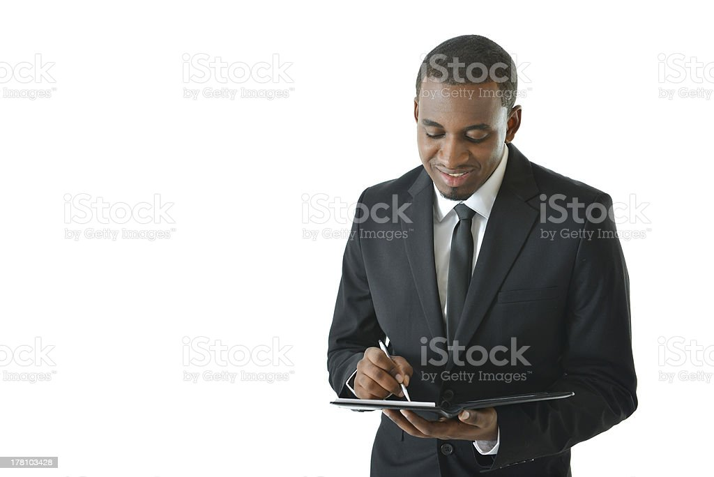 Business Man Writing Notes royalty-free stock photo
