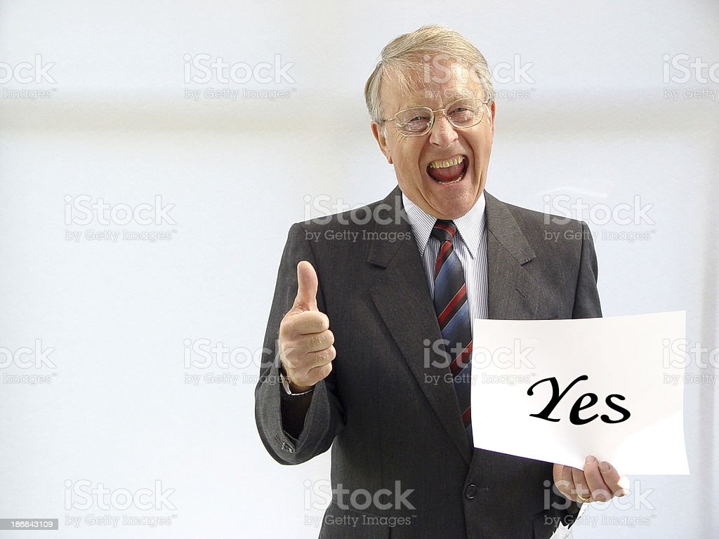 Business Man Yes stock photo