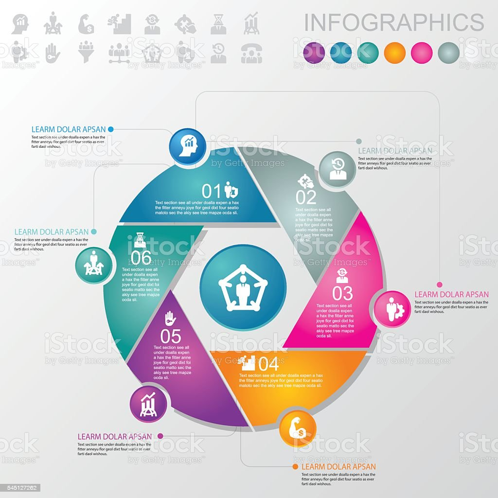 Business & Management Infographics and icons | EPS10 stock photo