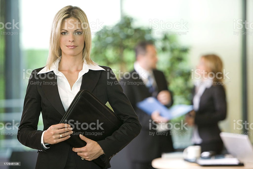 Business Manager And Her Team royalty-free stock photo