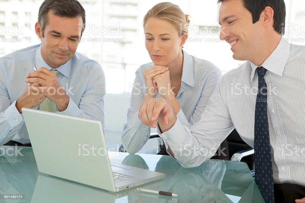 Business managers meeting stock photo