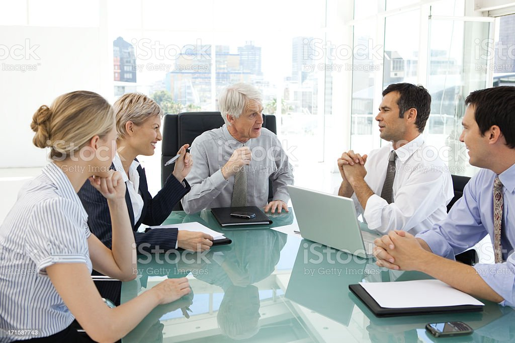 Business Managers Meeting with CEO stock photo