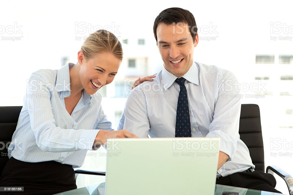 Business managers relationships stock photo