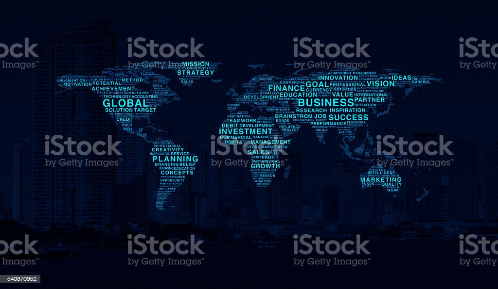 Business map concept, Elements of this image furnished by NASA stock photo