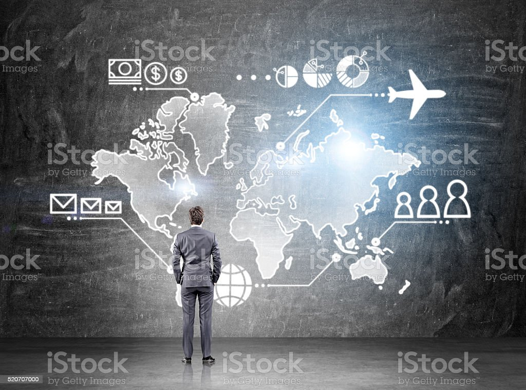 Business map stock photo