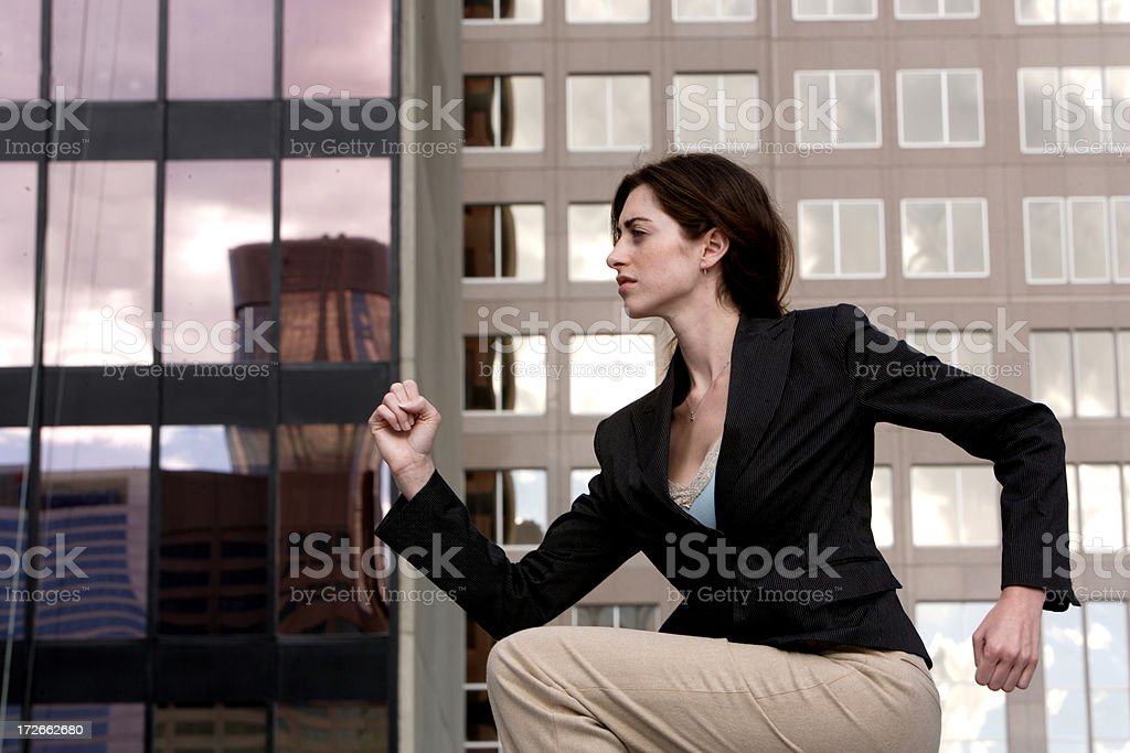 Business march stock photo