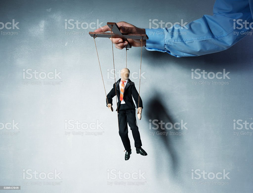 Business Marionettes stock photo