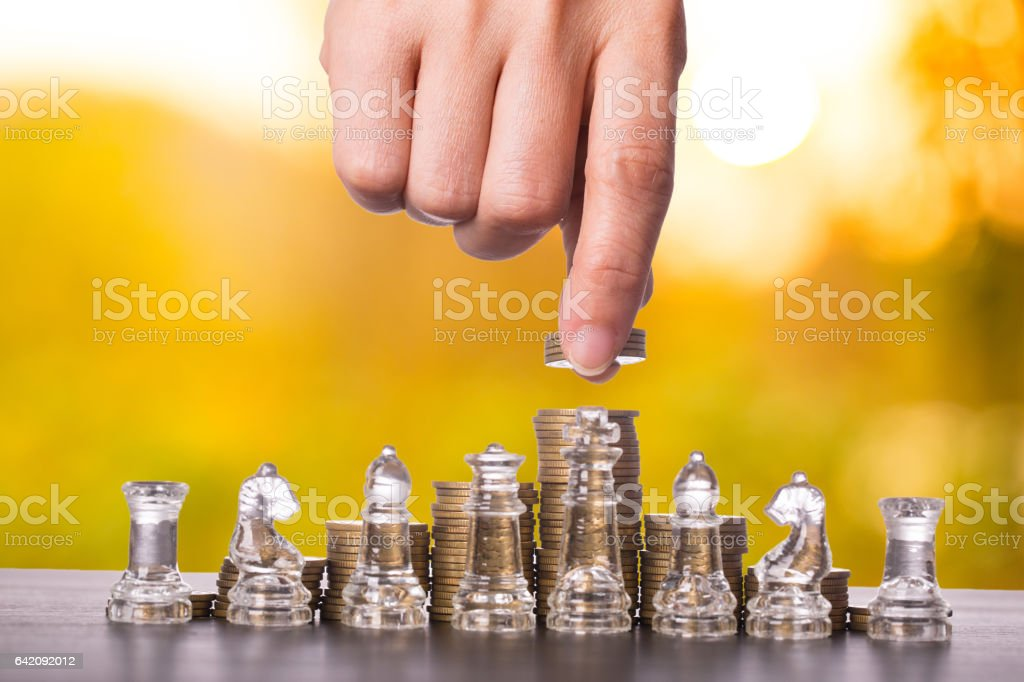 Business Marketing strategy concept stock photo