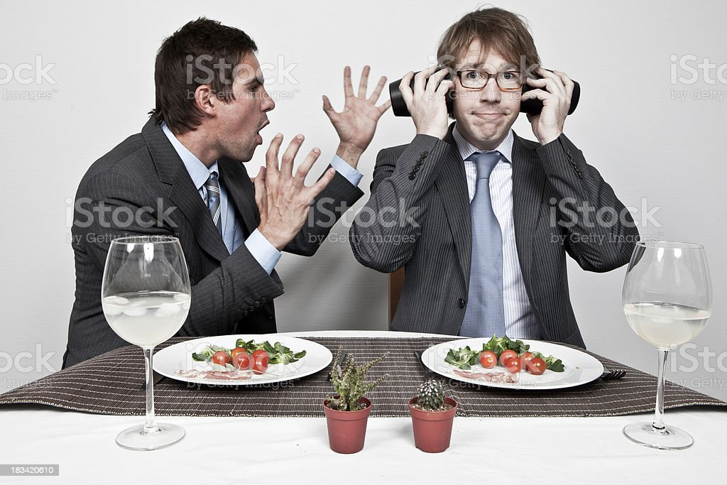 Business meal gone bad! royalty-free stock photo
