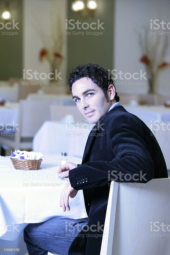 Business meal stock photo