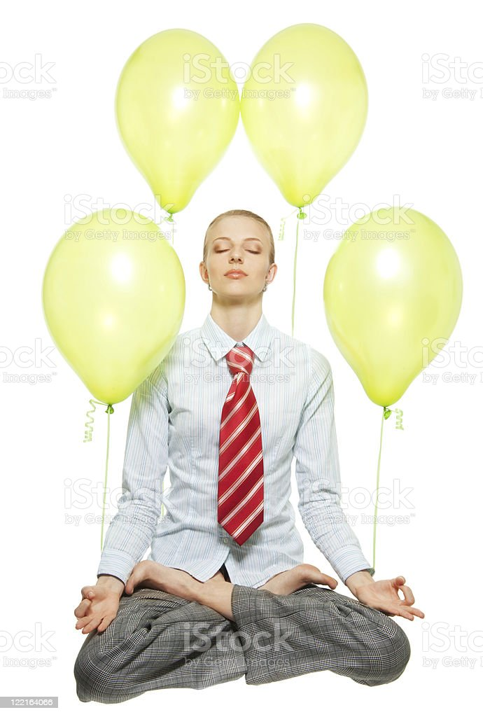business meditation royalty-free stock photo