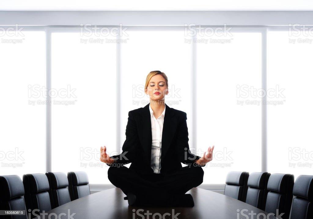 Business Meditation stock photo