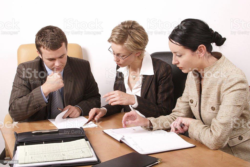 Business meeting  - 2 woman, 1 man royalty-free stock photo