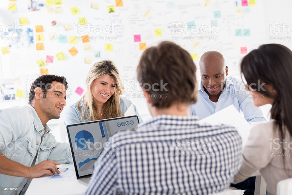 Business meeting at a creative office stock photo