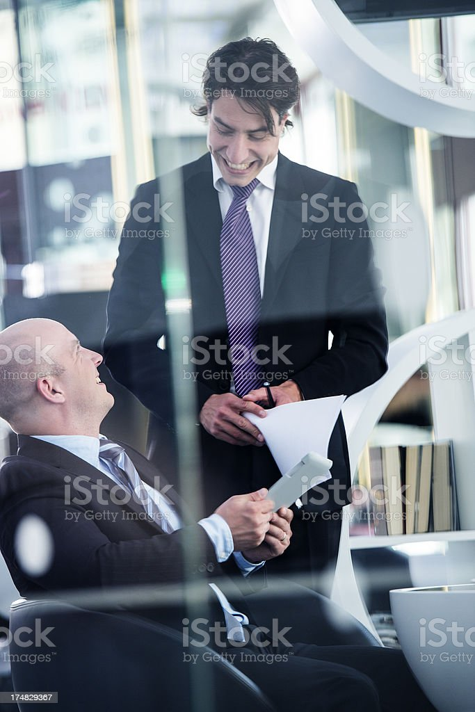 Business meeting at the lobby royalty-free stock photo