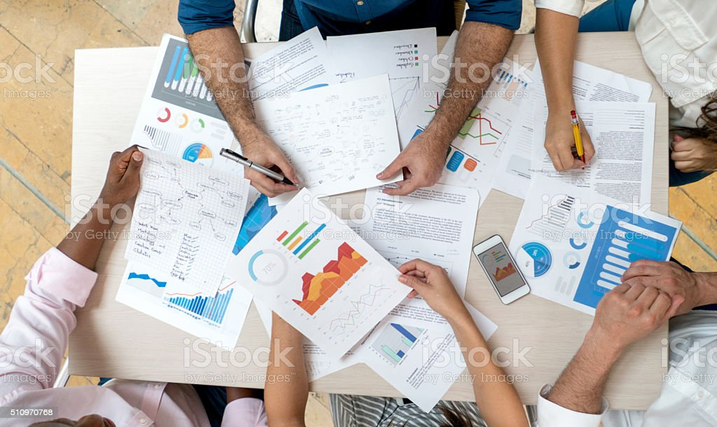 Business meeting at the office stock photo