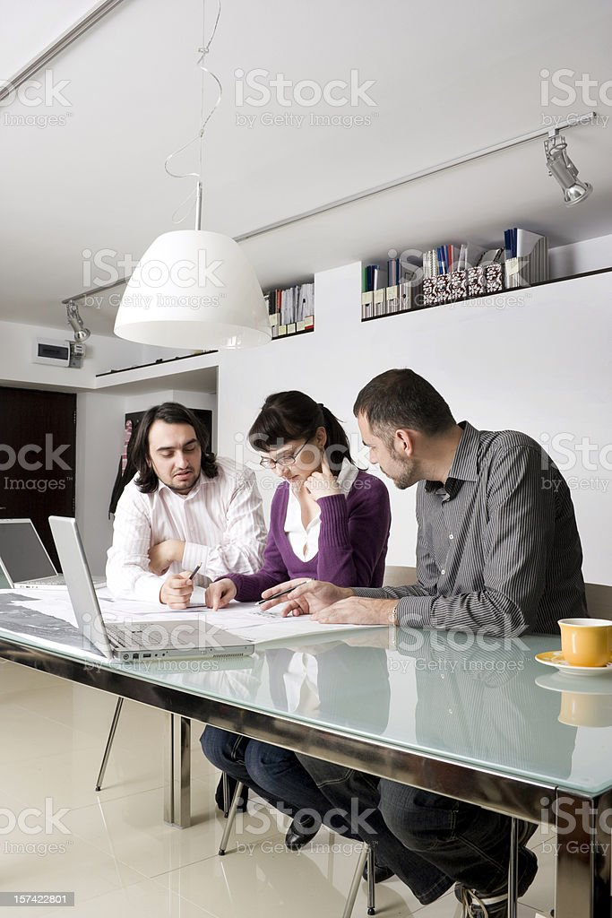 Business meeting between architects royalty-free stock photo