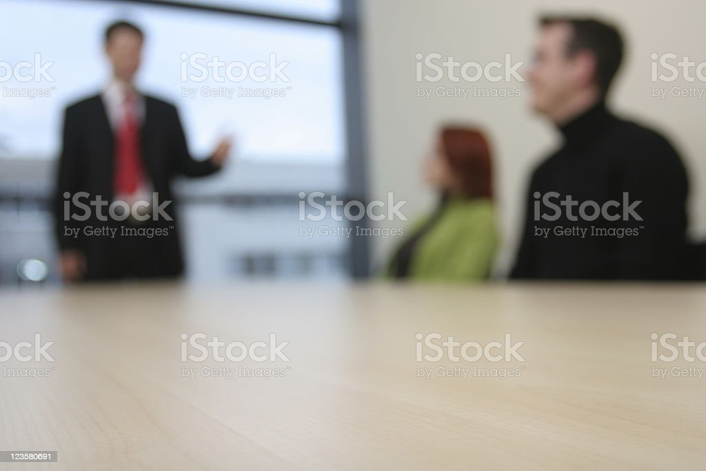 Business meeting defocused royalty-free stock photo