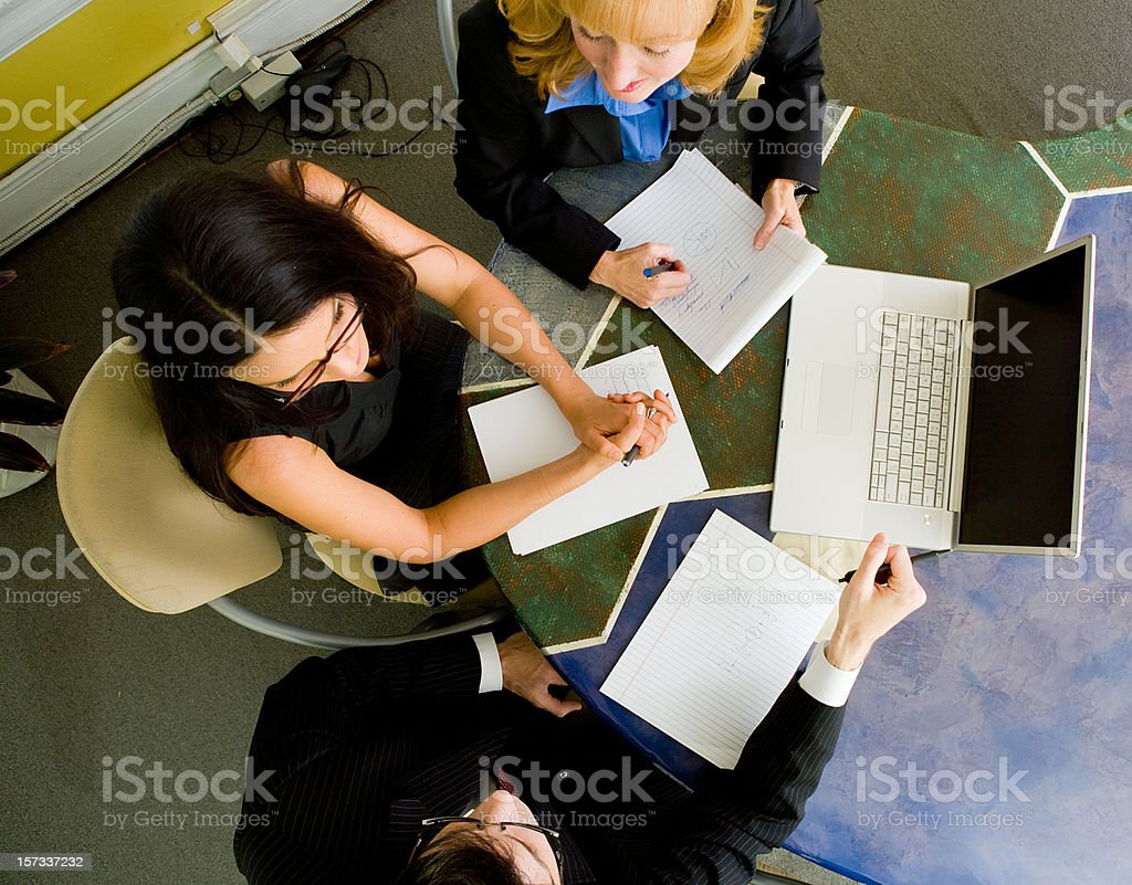 Business Meeting from Above royalty-free stock photo