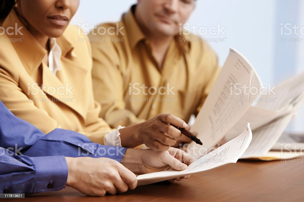 Business Meeting Holding Documents royalty-free stock photo