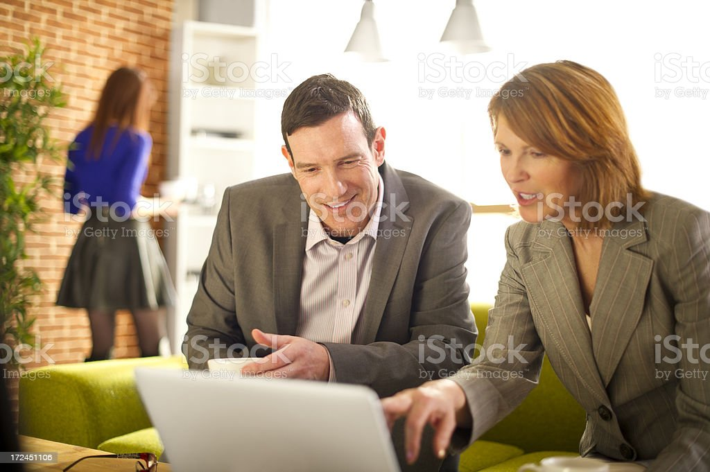 business meeting in a coffee shop royalty-free stock photo