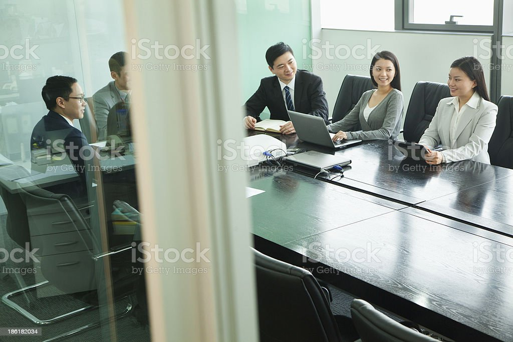 Business Meeting in a Conference Room royalty-free stock photo