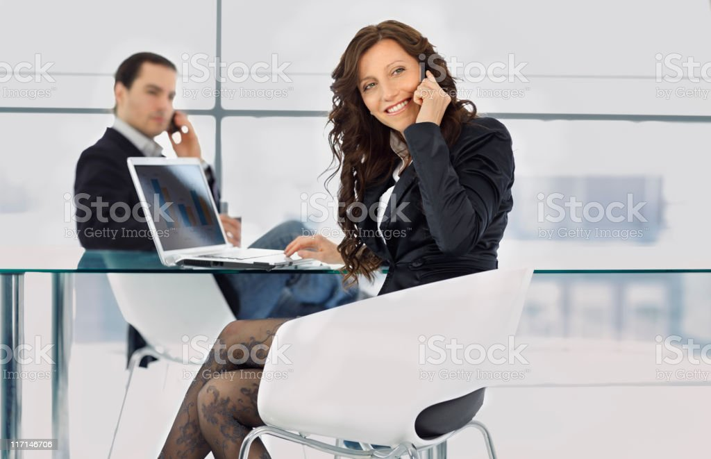 business meeting in a modern office royalty-free stock photo