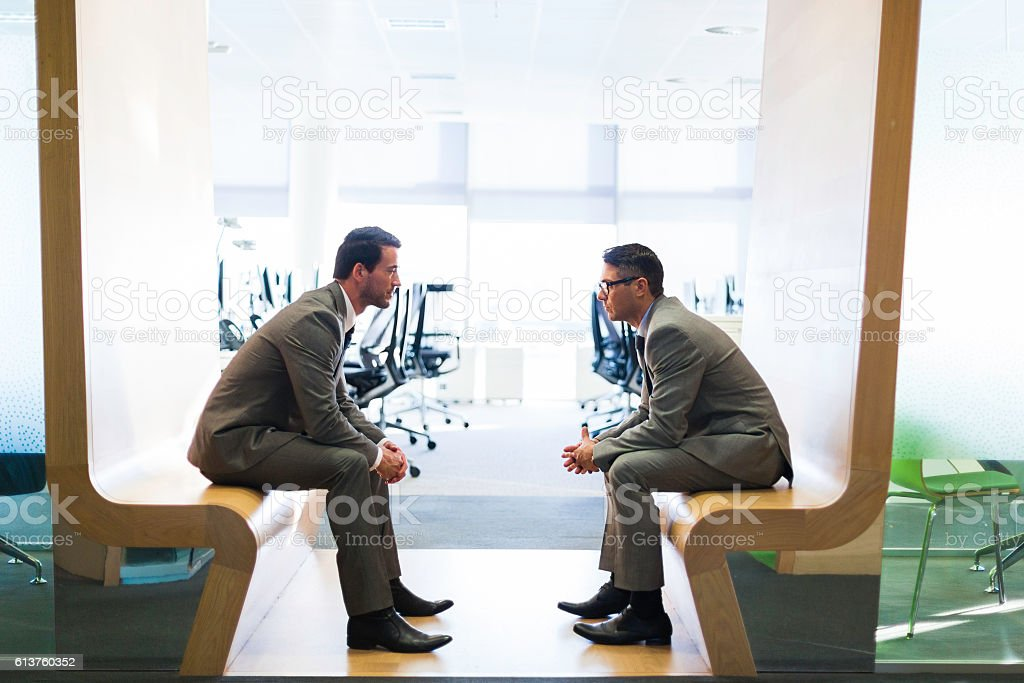 Business meeting in a modern office. stock photo