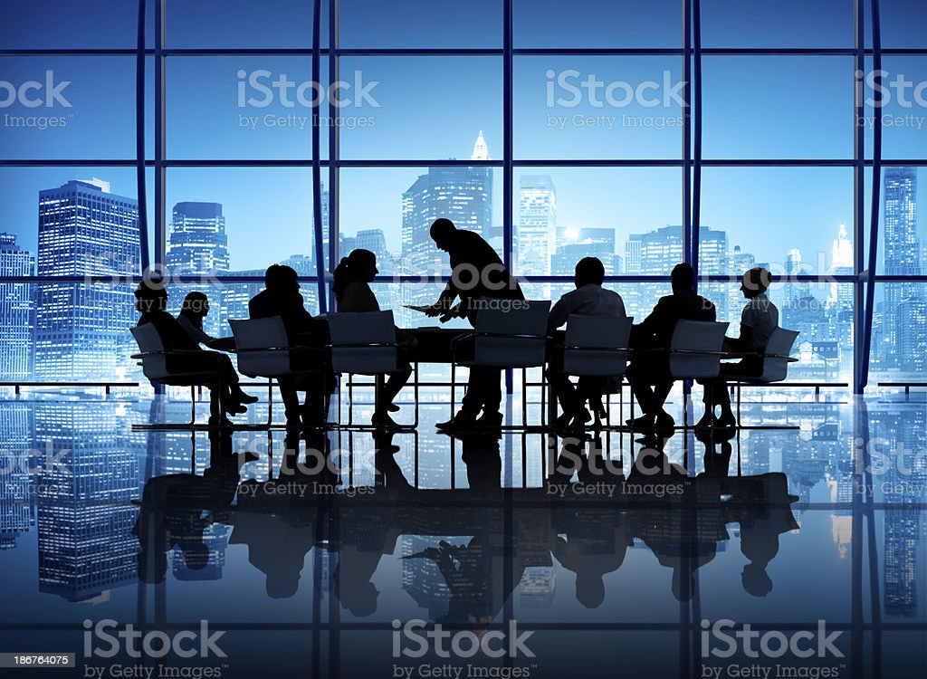 Business Meeting in an office stock photo