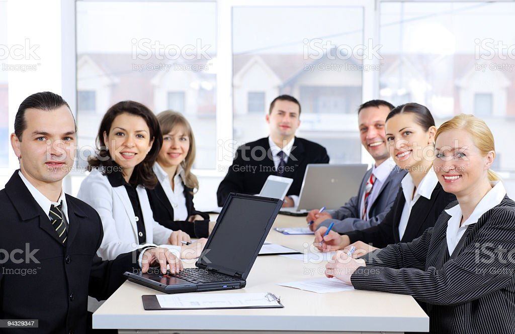Business meeting in boardroom. royalty-free stock photo
